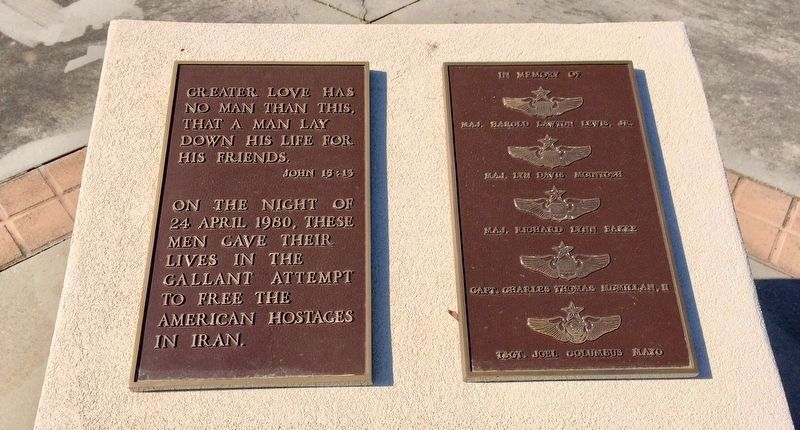 Memorial to the USAF Dead in Operation Eagle Claw image. Click for full size.