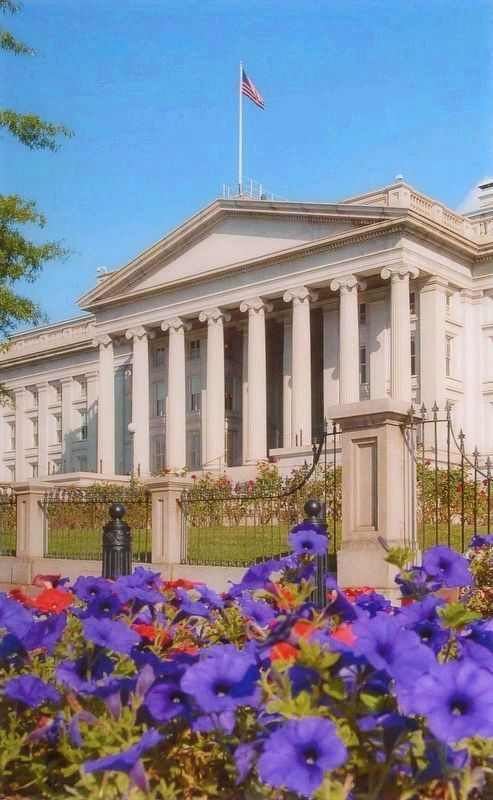 Treasury's South Façade image. Click for full size.