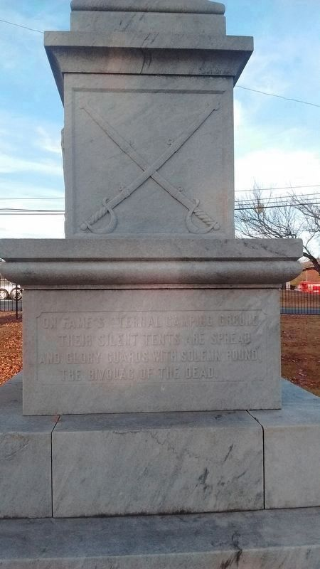 Confederate Monument (left side) image. Click for full size.