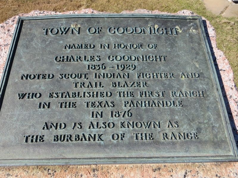 Town of Goodnight Marker image. Click for full size.