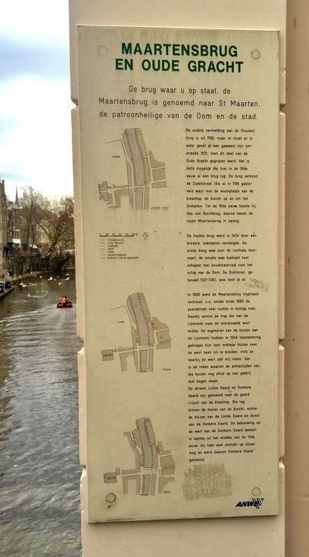 "Maartensbrug en Oude Gracht / ""St. Martin's Bridge"" on the Old Canal Marker image. Click for full size."
