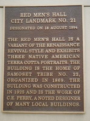 Red Men's Hall Marker image. Click for full size.