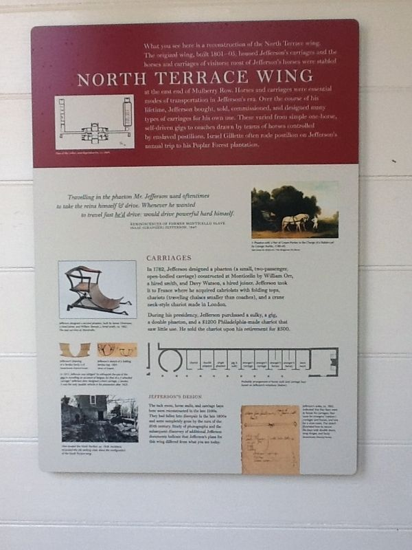 North Terrace Wing Marker image. Click for full size.