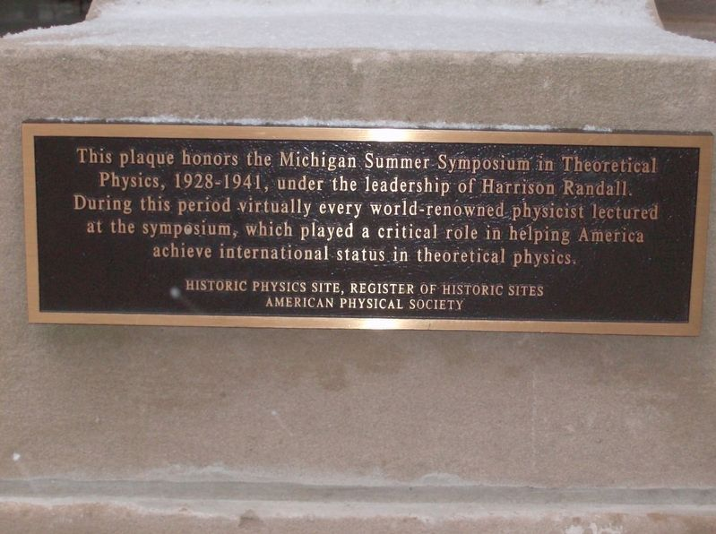 Michigan Summer Symposium in Theoretical Physics Marker image. Click for full size.