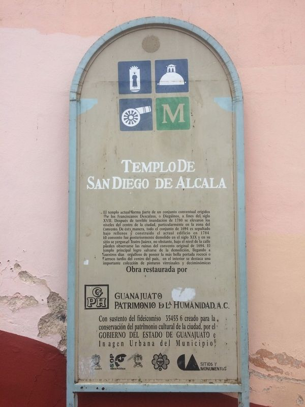 An additional, older Temple of San Diego Marker image. Click for full size.