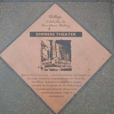Empress Theater Marker image. Click for full size.