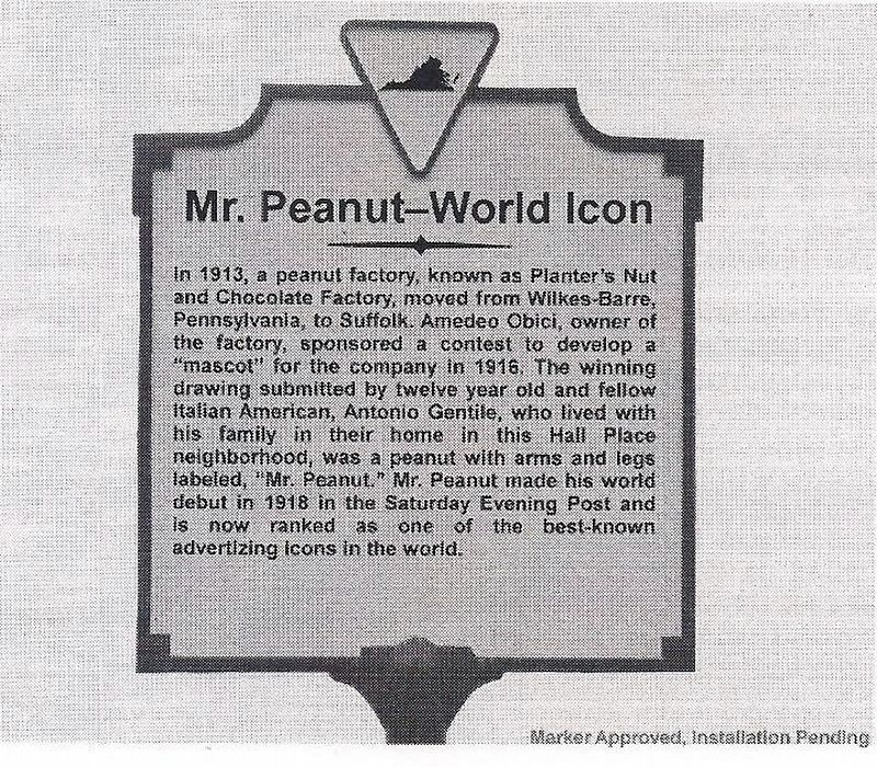 Mr. Peanut-World Icon (Courtesy of markerhistory.com). image. Click for full size.