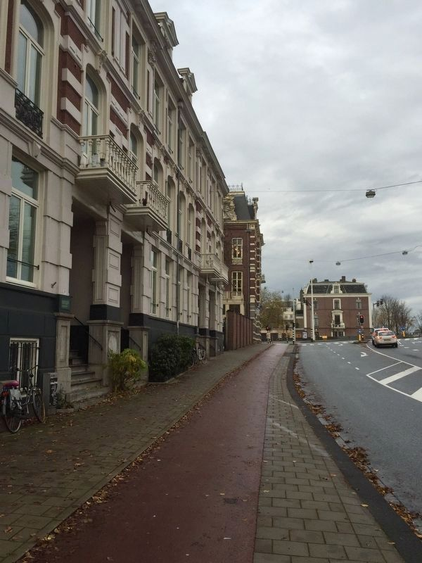 Herman Gorter Marker - Wide View, Looking North on Amsteldijk image. Click for full size.