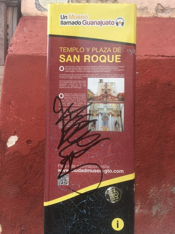 Temple and Plaza San Roque Marker image. Click for full size.