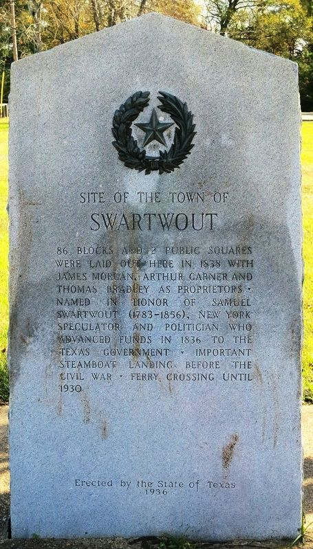 Site of the Town of Swartwout Marker image. Click for full size.