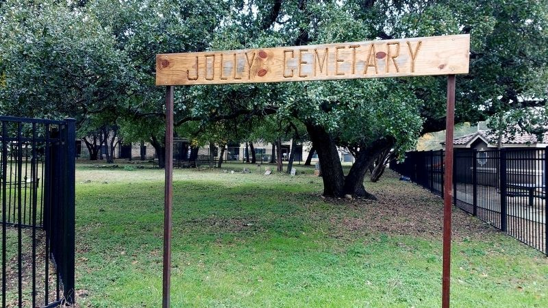 Jolly Cemetery Sign image. Click for full size.
