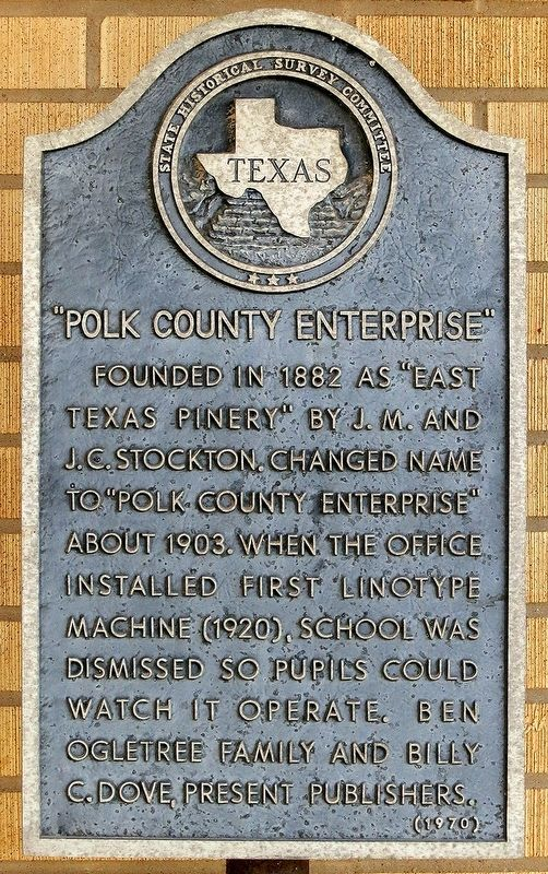 """Polk County Enterprise"" Marker image. Click for full size."