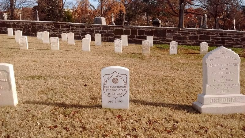 Gravesite of 1st Serg. Timothy Spillane, 16th PA Cavalry image. Click for full size.