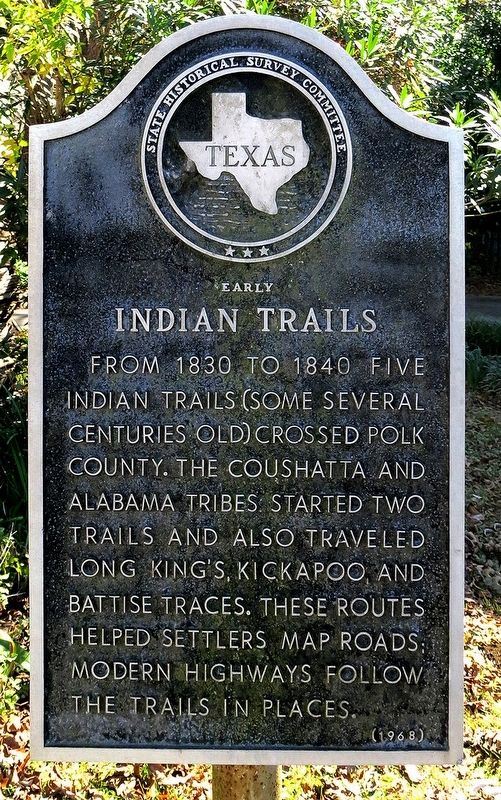 Early Indian Trails Marker image. Click for full size.