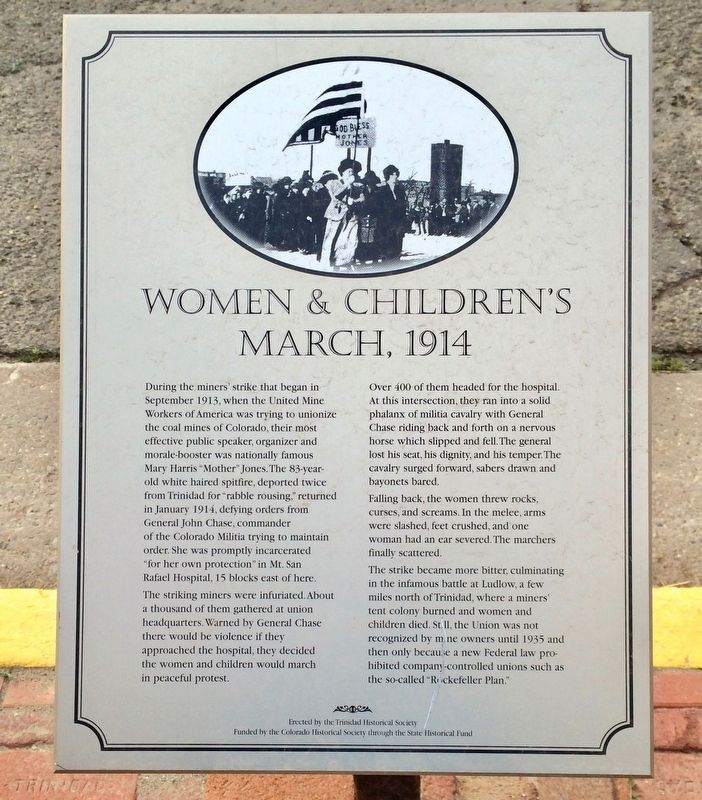 Women & Children's March, 1914 Marker image. Click for full size.