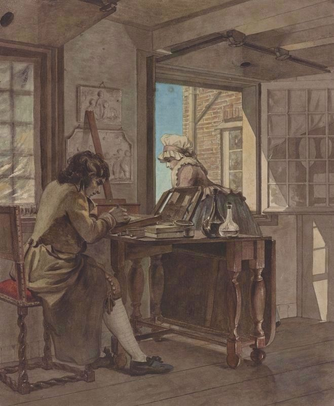 <i>The Artist in his Atelier</i> image. Click for full size.