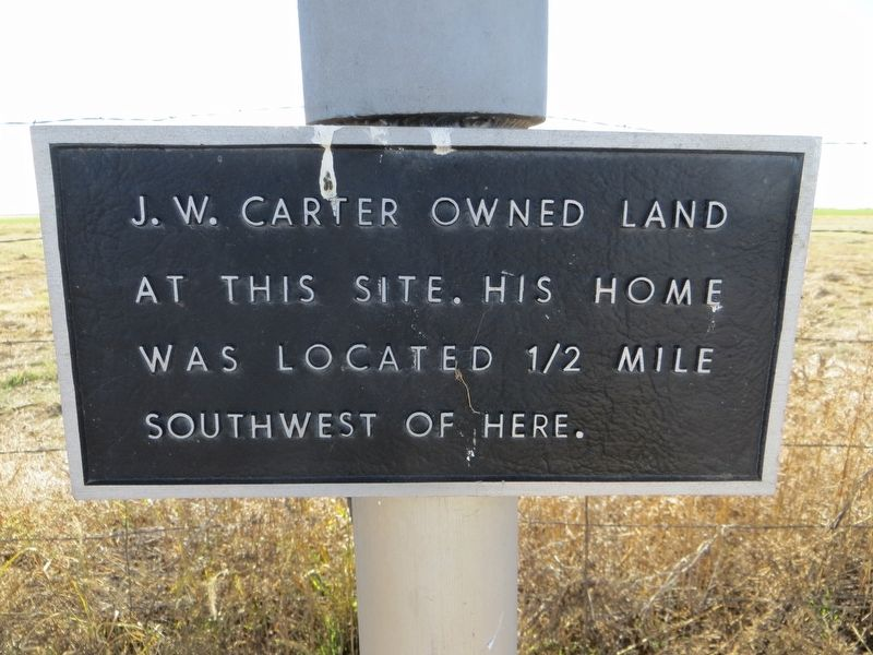 The J. W. Carter Family and the 7-Up Ranch Marker image. Click for full size.