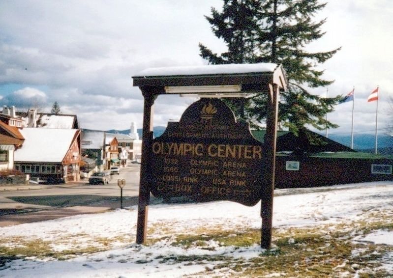 Sign-Olympic Center-1932 Olympic Arena-1980 Olympic Arena-USA Rink image. Click for full size.