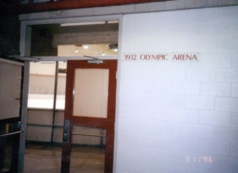 Entrance to the 1932 Olympic Arena image. Click for full size.