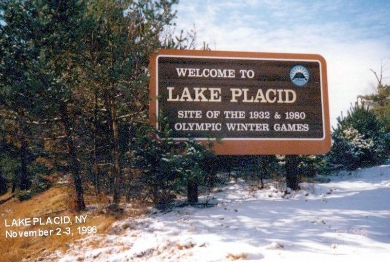 Welcome to Lake Placid Site of the 1932 & 1980 Olympic Winter Games image. Click for full size.