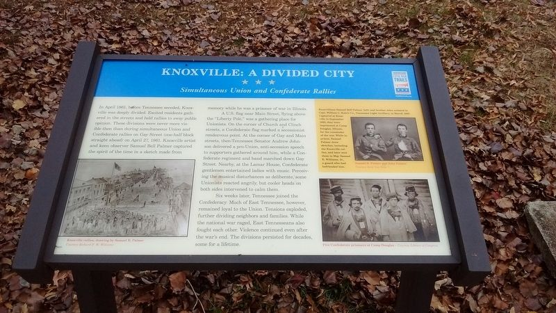 Knoxville: A Divided City Marker image. Click for full size.