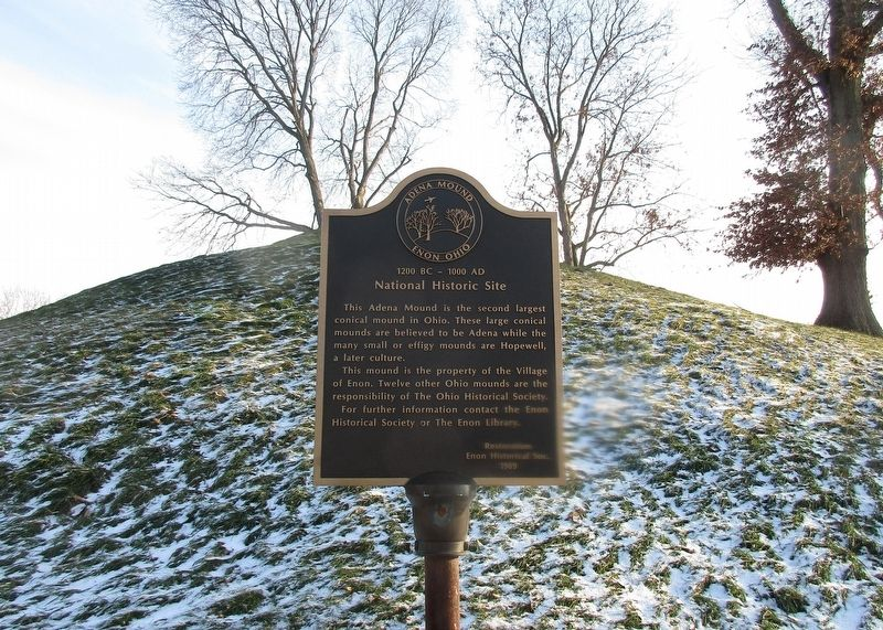 Adena Mound Enon Ohio Marker image, Touch for more information