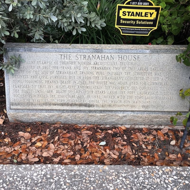 The Stranahan House Marker image. Click for full size.