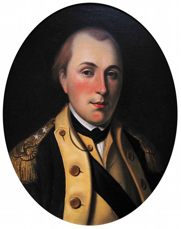 Marquis de Lafayette wearing the uniform of a major general of the Continental Army. image. Click for full size.
