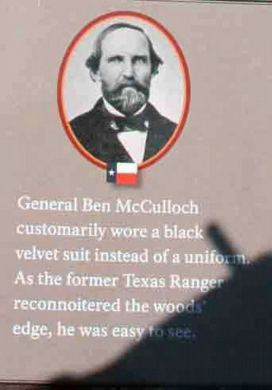 "Photo of General Ben McCulloch on the ""A Crisis in Command"" Marker image. Click for full size."