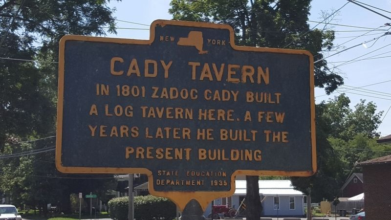 Cady Tavern Marker image. Click for full size.