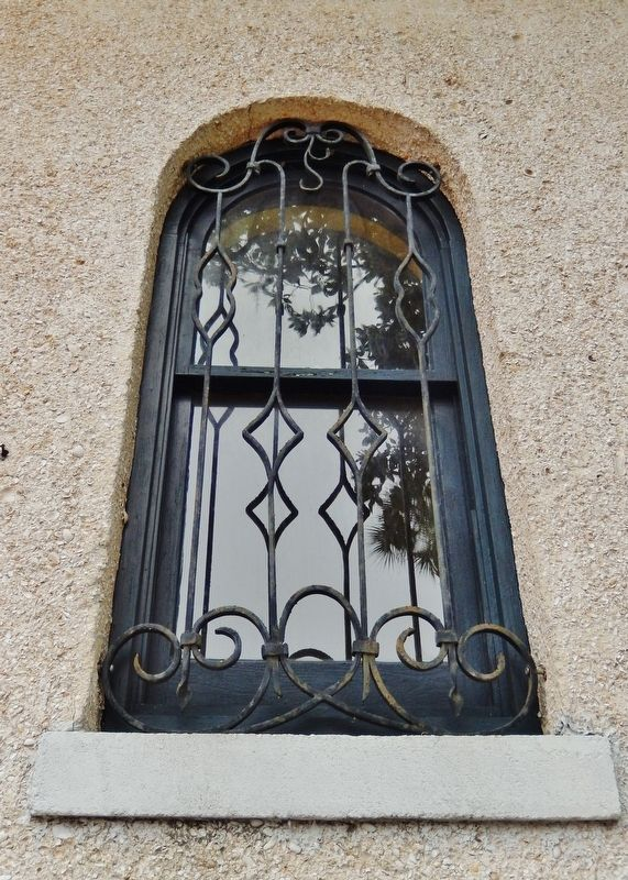 Anderson Cottage (<b><i>window and wrought iron detail)</b></i> image. Click for full size.