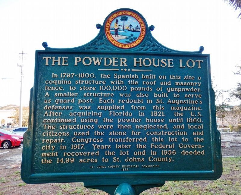The Powder House Lot (<i><b>north-facing side of marker</b></i>) image. Click for full size.