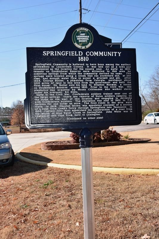 Springfield Community 1810 Marker image. Click for full size.