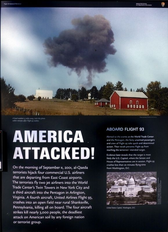 America Attacked Marker image. Click for full size.