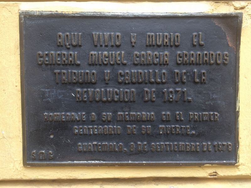 House of Miguel Garcia Granados Marker image. Click for full size.