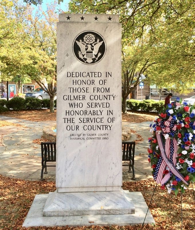 Gilmer County War Memorial image. Click for full size.