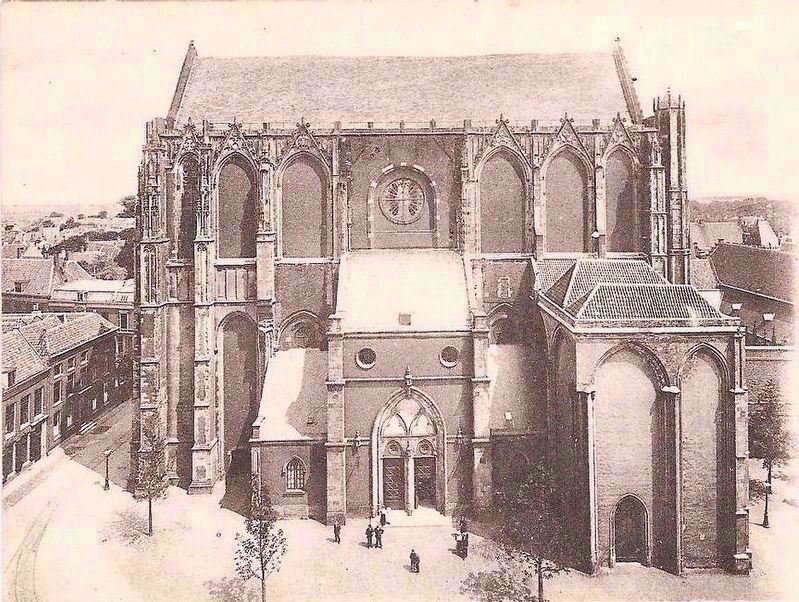 <i>Domkerk</i>, or St. Martin&#39;s Cathedral - Postcard View from the Dom Tower image. Click for full size.