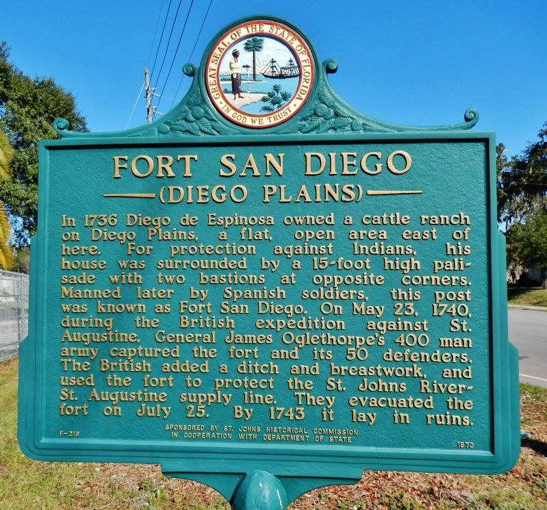 Fort San Diego Marker image. Click for full size.
