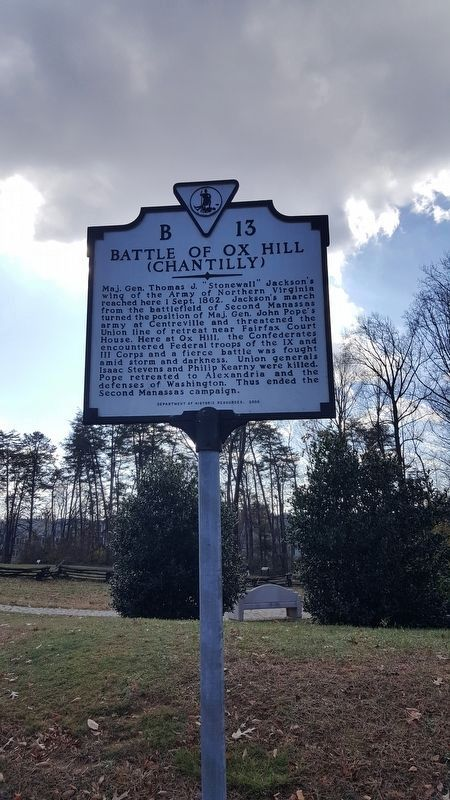 Battle of Ox Hill (Chantilly) Marker image. Click for full size.
