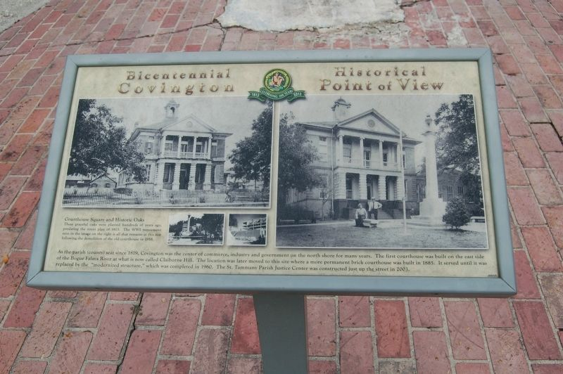 Courthouse Square and Historic Oaks Marker image. Click for full size.