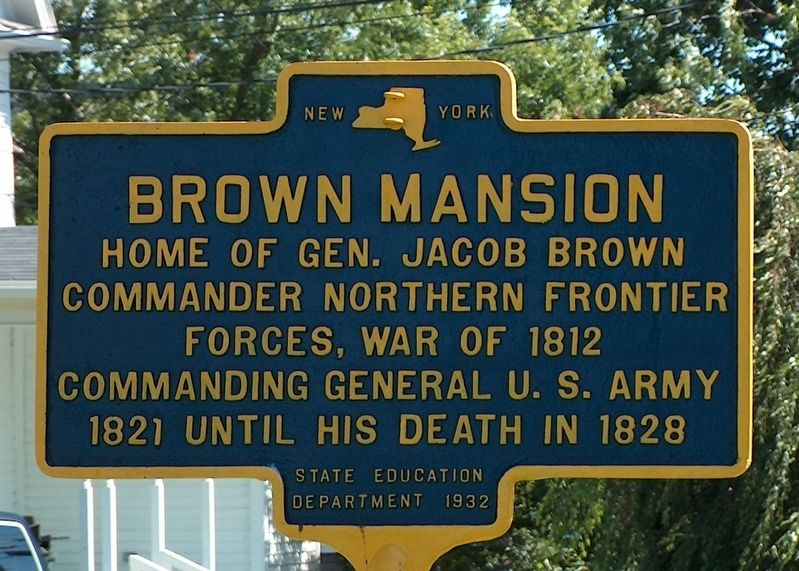 Brown Mansion Marker image. Click for full size.