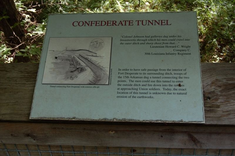 Confederate Tunnel Marker image. Click for full size.