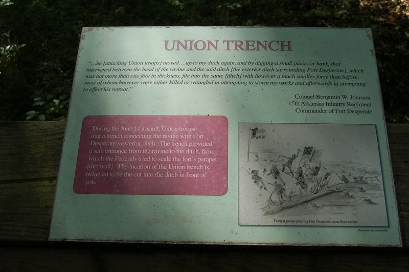 Union Trench Marker image. Click for full size.