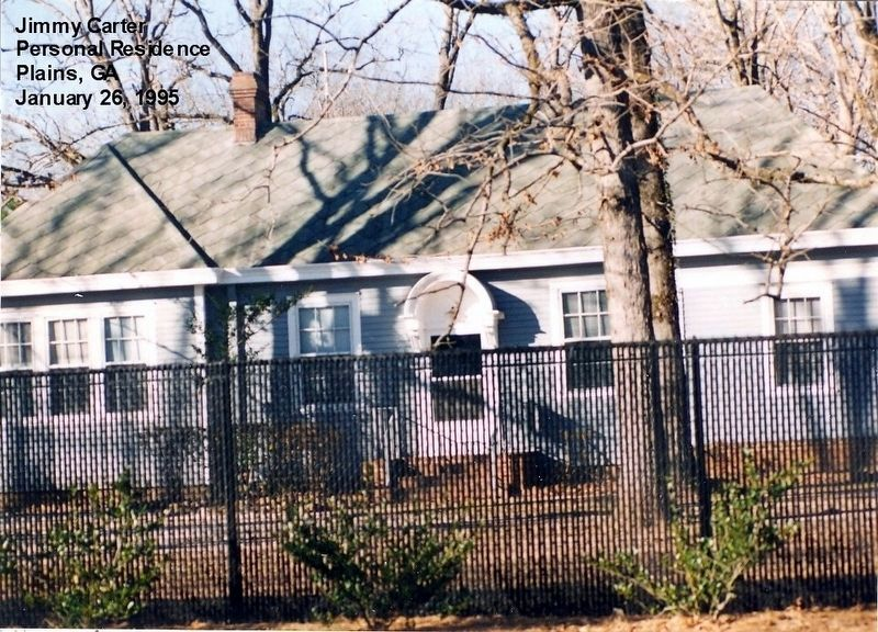President Jimmy Carter Residence-Plains GA image. Click for full size.