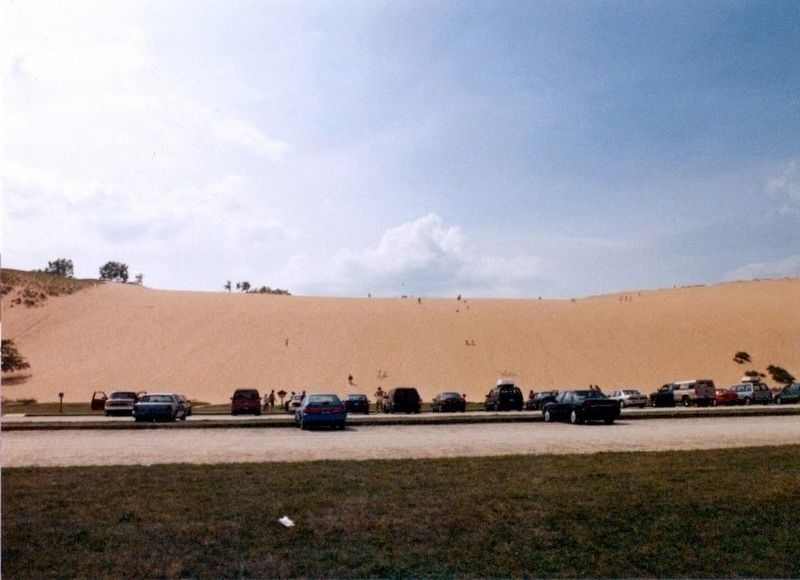 Sleeping Bear Dunes-from a parking lot image. Click for full size.
