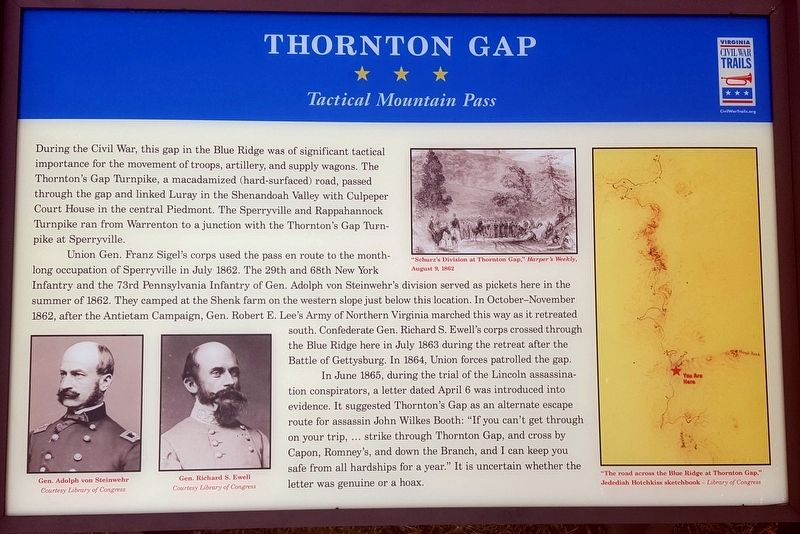 Thornton Gap Marker image. Click for full size.