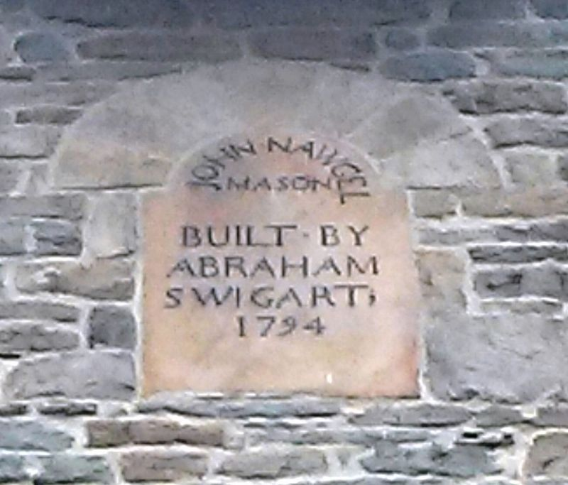 Swigart's Mill Name and Date Stone image. Click for full size.