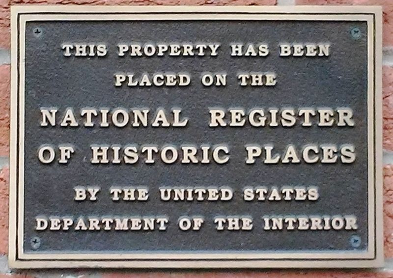 459 West Market Street NRHP Marker image. Click for full size.