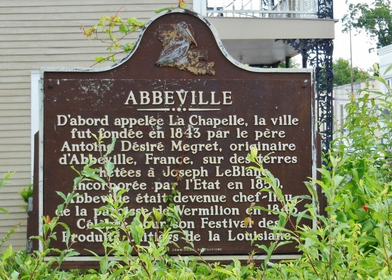 Abbeville Marker (<b><i>French</b></i>) image, Touch for more information