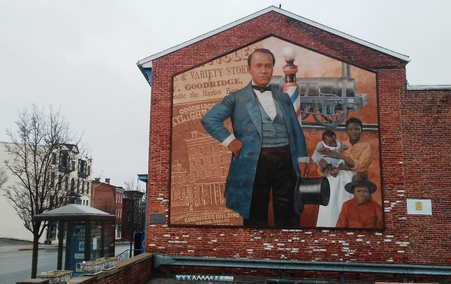 William C. Goodridge, Entrepreneur Mural and Marker image. Click for full size.